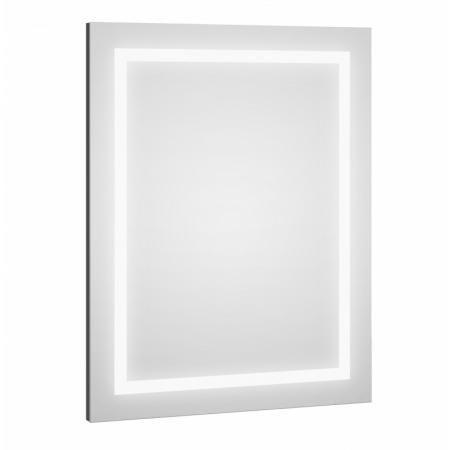 Defra Dot LED L60/L80 Lustro ścienne 60x80 cm grafit połysk 217-L-06004