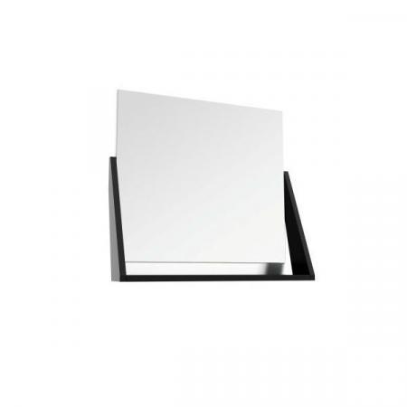 Defra Op-Arty L60 Lustro ścienne 64,2x58,5 cm biały połysk/czarny mat 215-L-06006