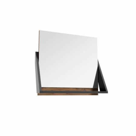 Defra Op-Arty L60 Lustro ścienne 64,2x58,5 cm orzech rockford/czarny mat 215-L-06007
