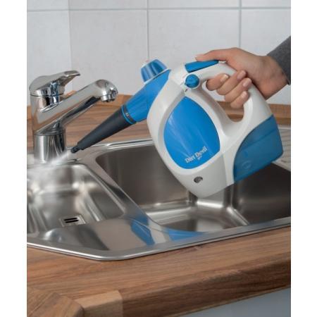 Dirt Devil AquaClean Myjka parowa urządzenie do czyszczenia parą, białe/niebieskie M317