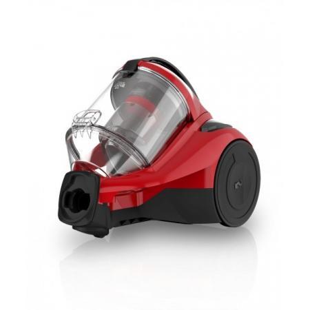Dirt Devil Yazz-2 Odkurzacz bezworkowy z technologią Singlecyclone, czarny/czerwony DD 2822-2