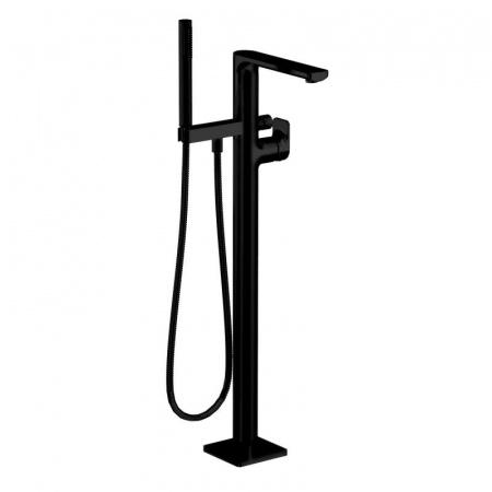 Dornbracht for Villeroy & Boch Cult Jednouchwytowa bateria wannowa wolnostojąca z zestawem prysznicowym, czarna matowa 25963960-33