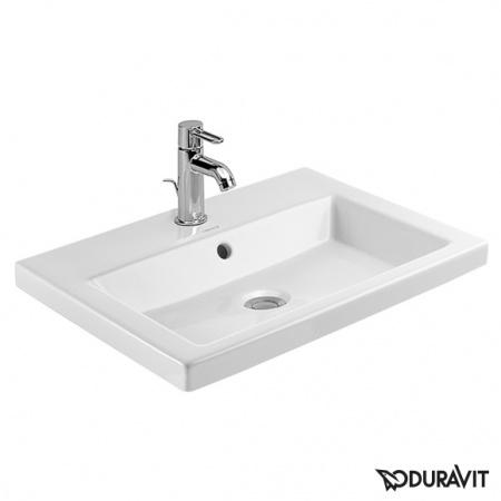 Duravit 2nd Floor Umywalka wpuszczana w blat 60x43 cm z otworem na armaturę, biała 0347600000