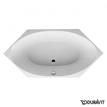 Duravit 2x3 Wanna sześciokątna 200x100 cm, do zabudowy, akrylowa, biała 700024000000000