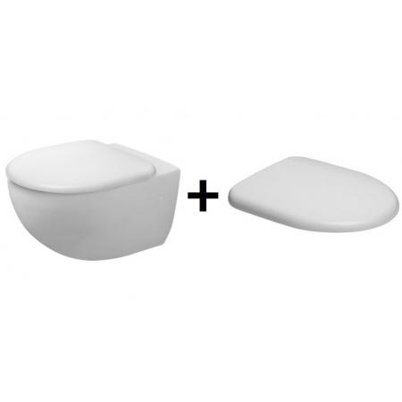 Duravit Architec Miska WC lejowa 36x57,5cm wisząca z deską wolnoopadającą biała 2546090000+0069690000