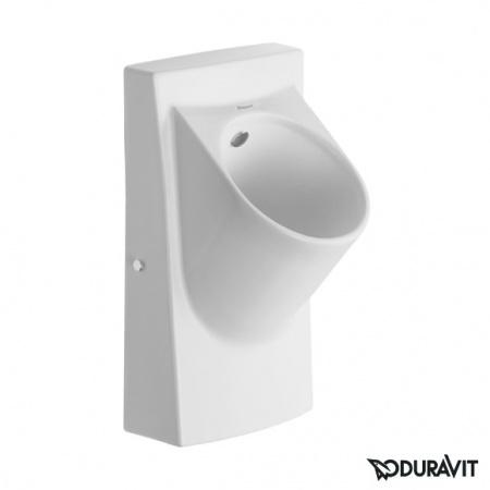 Duravit Architec Pisuar elektroniczny do zasilania 38x35 cm, model z muchą, biały z powłoką WonderGliss 08183600971