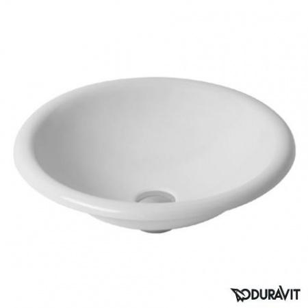 Duravit Architec Umywalka blatowa Ø45 cm, bez przelewu, bez otworu na baterię, biała 0318450000