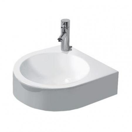 Duravit Architec Umywalka mała 36x38 cm bez przelewu, otwór na baterię z lewej strony, biała 0766350009