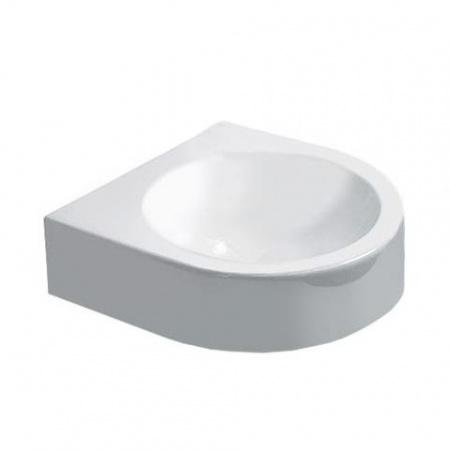 Duravit Architec Umywalka mała 36x38 cm bez przelewu, z półką na baterię, biała 0766350000