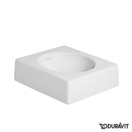 Duravit Architec Umywalka nablatowa szlifowana 42x42 cm, bez otworu na baterię, biała 0320420000