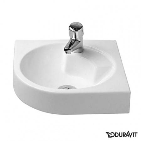 Duravit Architec Umywalka narożna 63,5x54 cm bez przelewu, biała z powłoką WonderGliss 04484500001