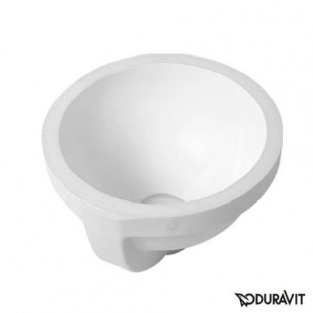 Duravit Architec Umywalka podblatowa Ø27,5 cm, z przelewem, bez otworu na baterię, biała z powłoką WonderGliss 03192700001