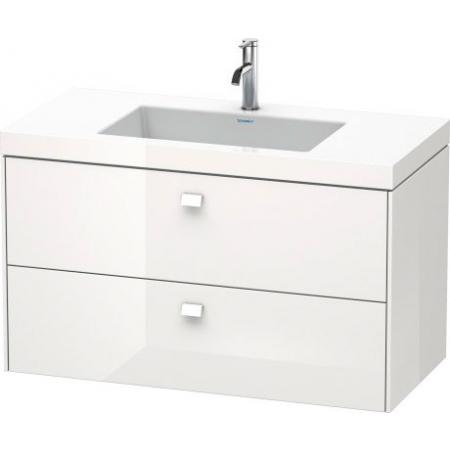 Duravit Brioso C-bonded Umywalka meblowa z szafką 100x48x61,3cm, wisząca biały mat BR46071818