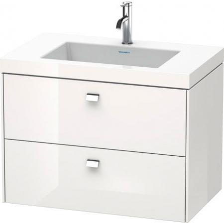 Duravit Brioso C-bonded Umywalka meblowa z szafką 80x48x61,3cm, wisząca biały mat BR46061818