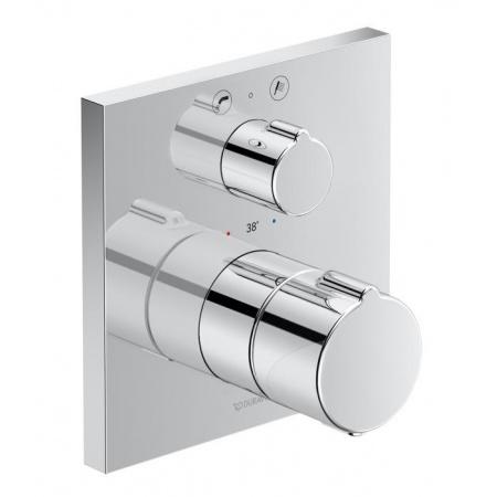 Duravit C.1 Bateria wannowa termostatyczna podtynkowa z zaworem odcinająco-przełączającym chrom C15200013010