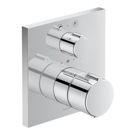 Duravit C.1 Bateria wannowa termostatyczna podtynkowa z zaworem odcinająco-przełączającym i zabezpieczeniem chrom C15200017010