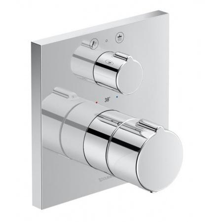 Duravit C.1 Bateria prysznicowa termostatyczna podtynkowa z zaworem odcinająco-przełączającym chrom C14200013010