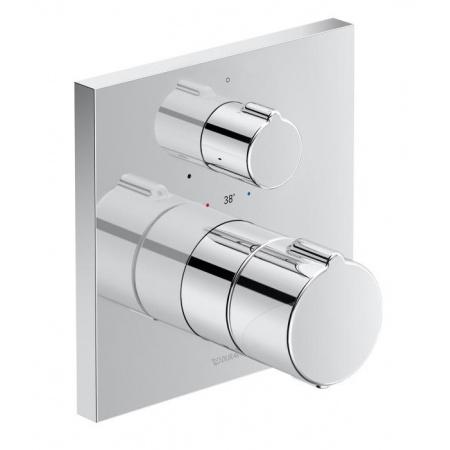 Duravit C.1 Bateria prysznicowa termostatyczna podtynkowa z zaworem odcinającym chrom C14200015010