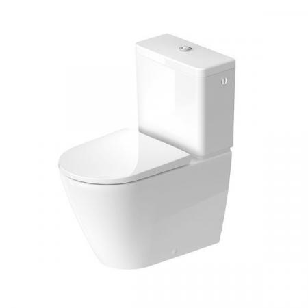 Duravit D-Neo Toaleta WC stojąca 65x37 cm bez kołnierza kompaktowa biała z powłoką 2002092000