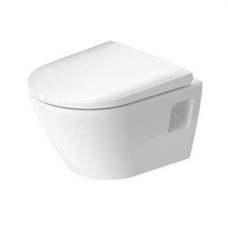 Duravit D-Neo Zestaw Toaleta WC 48x37 cm bez kołnierza + deska wolnoopadająca biały Alpin 45870900A1