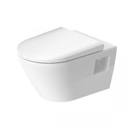 Duravit D-Neo Zestaw Toaleta WC 54x37 cm bez kołnierza + deska wolnoopadająca biały Alpin 45780900A1