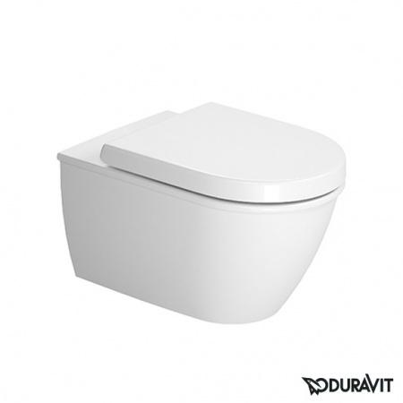 Duravit Darling New Miska WC podwieszana Rimless 37x54 cm, lejowa, biała z powłoką WonderGliss 25570900001