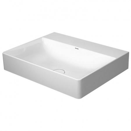 Duravit DuraSquare Umywalka nablatowa 60x47 cm bez otworów na baterię, biała 2353600079