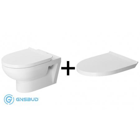 Duravit Durastyle Basic Zestaw Toaleta WC podwieszana 54x36,5 cm Rimless bez kołnierza z deską sedesową wolnoopadającą, biały 45620900A1 2562090000+0020790000