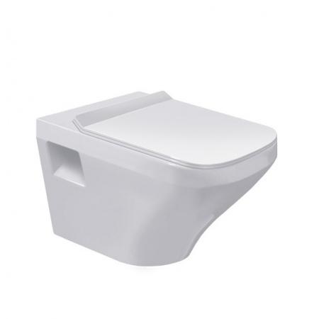 Duravit DuraStyle Miska WC podwieszana Rimless 37x54 cm, lejowa, biała z powłoką WonderGliss 25380900001