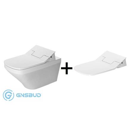 Duravit DuraStyle SensoWash Slim Zestaw Toaleta WC podwieszana z deską sedesową myjącą, biały 631001002004300