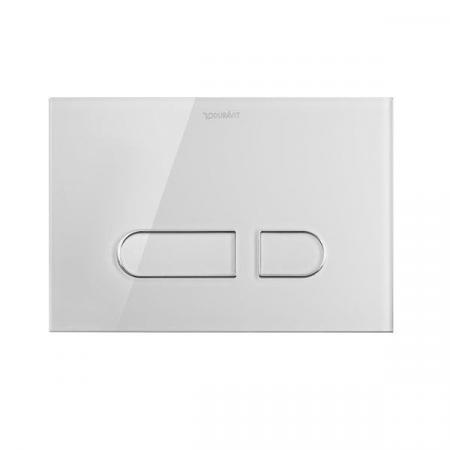 Duravit DuraSystem Przycisk spłukujący A1 do WC szklany, biały WD5002012000