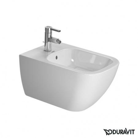 Duravit Happy D.2 Bidet podwieszany 35,5x54 cm, z przelewem, biały z powłoką WonderGliss 22581500001