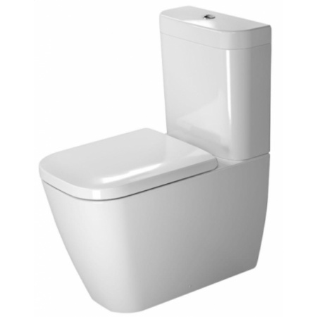 Duravit Happy D.2 Miska WC kompaktowa 36,5x63 cm, lejowa, biała z powłoką WonderGliss 21340900001