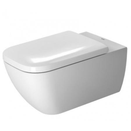 Duravit Happy D.2 Miska WC podwieszana 36,5x62 cm Rimless, lejowa, biała z powłoką WonderGliss 25500900001