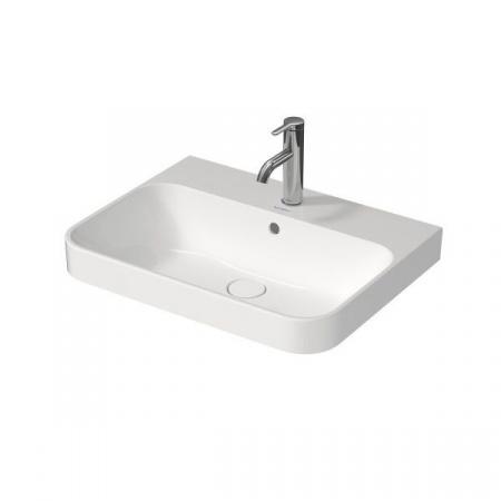 Duravit Happy D.2 Plus Umywalka meblowa 60x46 cm z przelewem, bez otworu na baterię, biała 2360600060