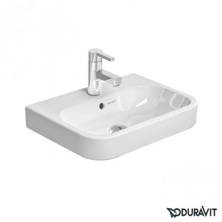 Duravit Happy D.2 Umywalka meblowa mała 50x36 cm, z otworem na baterię, z przelewem, biała 0710500000