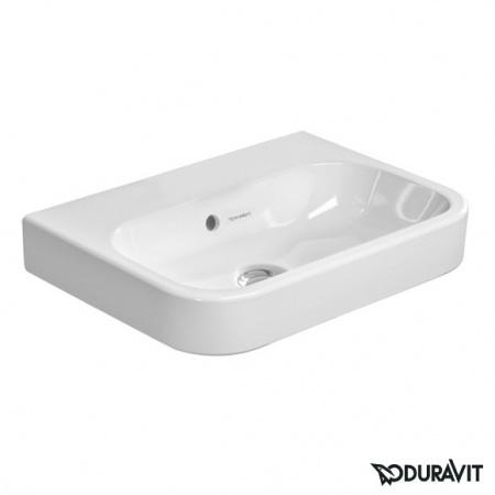 Duravit Happy D.2 Umywalka meblowa mała 50x36 cm, bez otworu na baterię, z przelewem, biała 0710500060