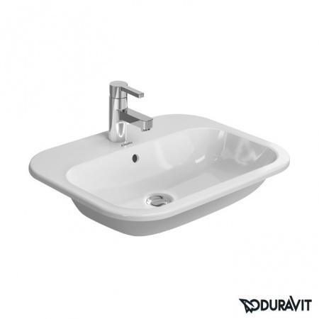 Duravit Happy D.2 Umywalka blatowa 60x46 cm, z jednym otworem na baterię, z przelewem, biała 0483600000