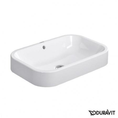 Duravit Happy D.2 Umywalka stawiana na blat 60x40 cm, bez otworu na baterię, z przelewem, biała 2314600000