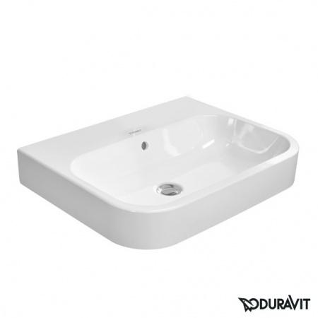 Duravit Happy D.2 Umywalka nablatowa 60x46 cm, bez otworu na baterię, z przelewem, biała 2315600060
