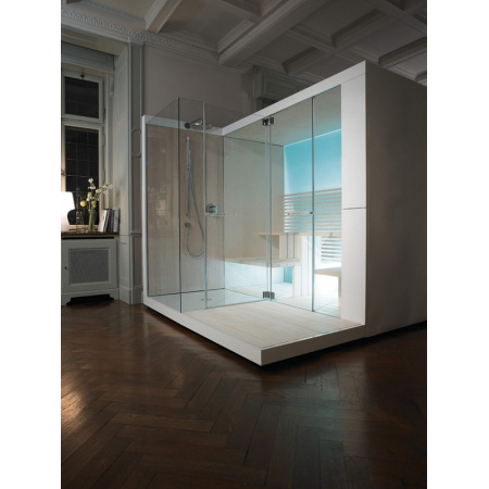 Duravit Inipi Ama Sauna przyścienna i narożna 335x117x222 cm, bez powłoki, biały połysk 750522002011000
