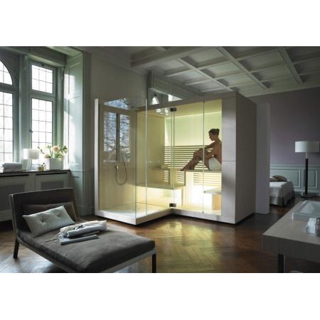 Duravit Inipi Ama Sauna przyścienna i narożna 335x117x222 cm, z powłoką Antislip, orzech amerykański 750713002011001