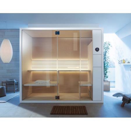 Duravit Inipi B Sauna narożna i przyścienna 236,5x117x213 cm, bez powłoki, biały połysk 751122001011000