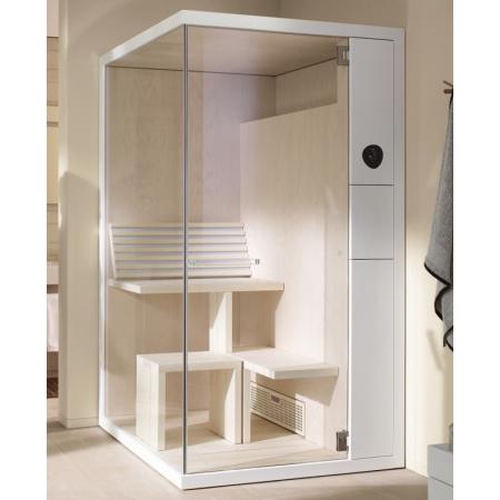 Duravit Inipi B Sauna Super Compact narożna 117,5x117x213 cm, bez powłoki, biały połysk 751322001001000