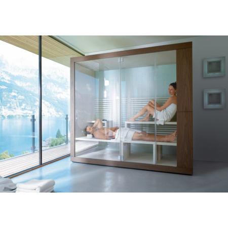 Duravit Inipi Sauna przyścienna i narożna 235x117x222 cm, orzech amerykański 750113002011000