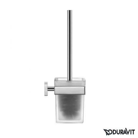 Duravit Karree Szczotka WC wisząca, chrom 0099571000