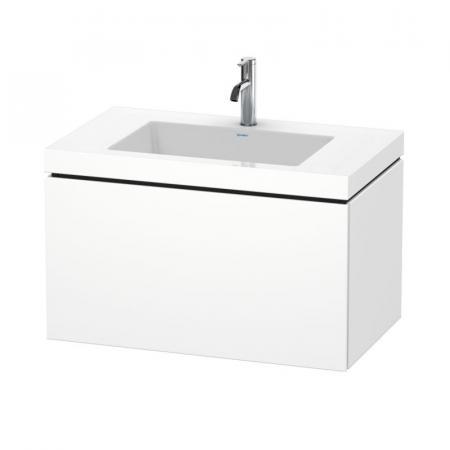 Duravit L-Cube C-bonded Umywalka meblowa z szafką wiszącą 80x48x50 cm, biały mat LC6917O1818