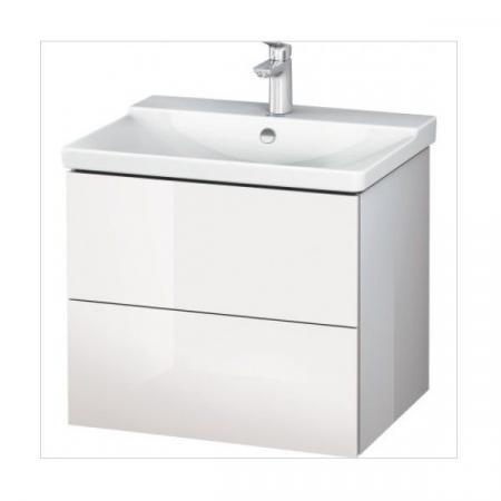 Duravit L-Cube Szafka umywalkowa 62x48,1x55,5 cm, biała wysoki połysk LC624402222