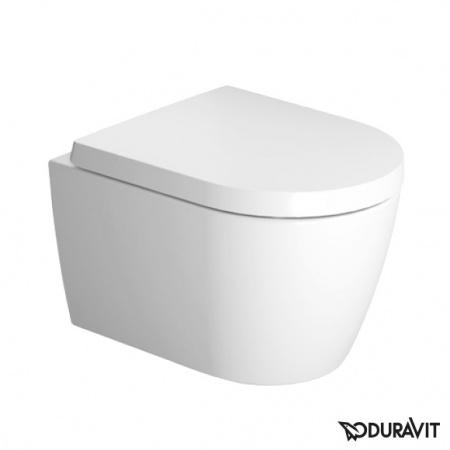 Duravit ME by Starck Toaleta WC podwieszana 37x48 cm Compact krótka Rimless bez kołnierza, biała 2530090000