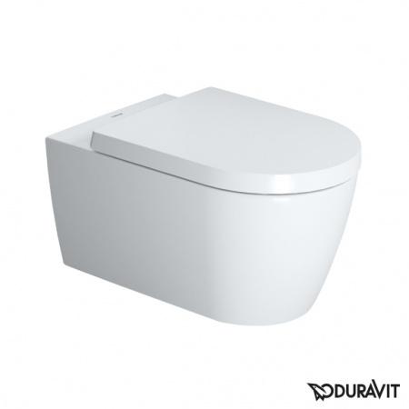 Duravit ME by Starck Miska WC podwieszana Rimless 37x57 cm HygieneGlaze, lejowa, biała 2529092000